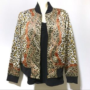 1 LEFT🤩NWT Equestrian Leopard Print Bomber Jacket